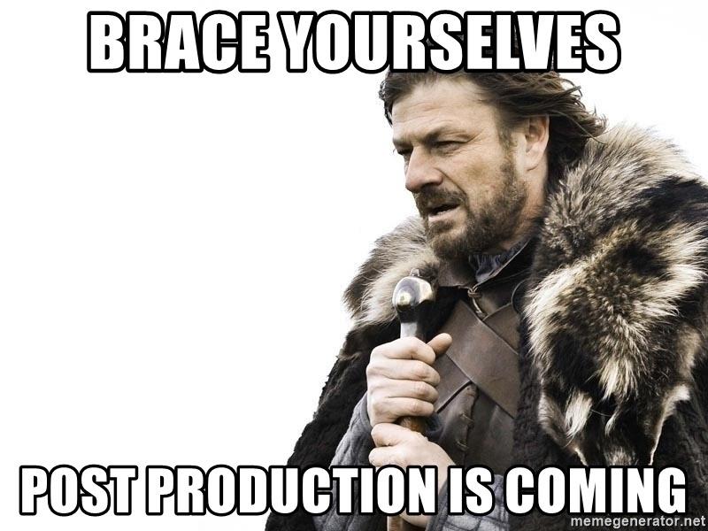post production meme